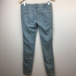 Free People Millennium Diamond Print Skinny Jeans